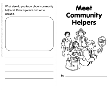 image relating to Community Helpers Printable Book referred to as Meet up with Neighborhood Helpers: Create Read through Guide Printable Mini-Textbooks