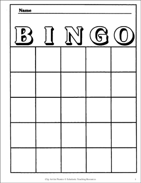 Bingo Card Template Printable Bingo And Skills Sheets