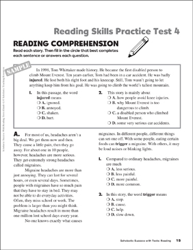 Canny image with regard to 3rd grade reading practice test printable