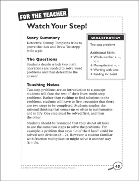 graphic regarding Printable Watch Your Step Sign identify Math Top secret: Look at Your Stage (2-Phase Complications