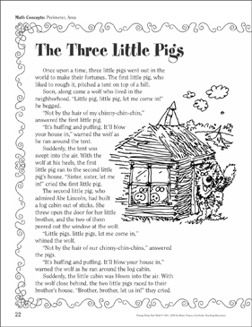 photograph about Printable Fairy Tales named The A few Minimal Pigs (Perimeter, Place): A Humorous Fairy Story