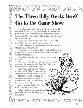 photo regarding Three Billy Goats Gruff Story Printable referred to as The 3 Billy Goats Gruff (Financial): A Amusing Fairy Story Math