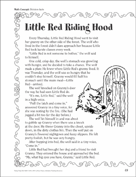 Little Red Riding Hood Division Facts A Funny Fairy Tale Math