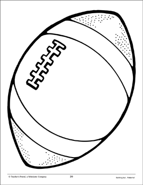 Football: Large Pattern | Printable Clip Art and Images