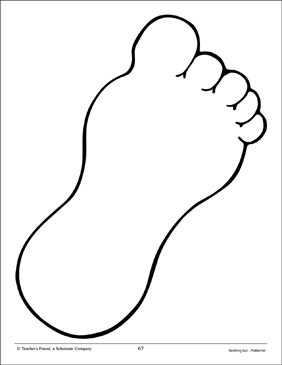 image regarding Printable Clip Art titled Footprint: Hefty Routine Printable Clip Artwork and Visuals