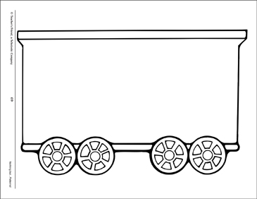 Train: Large Pattern | Printable Clip Art and Images