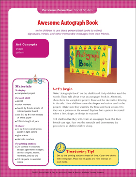photograph regarding Printable Autograph Book for Students referred to as Astounding Autograph Reserve: Social Scientific tests Artwork Video game