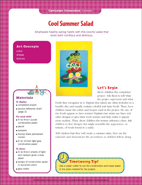 graphic relating to Have a Cool Summer Printable named Awesome Summer season Salad: Science Artwork Game Printable