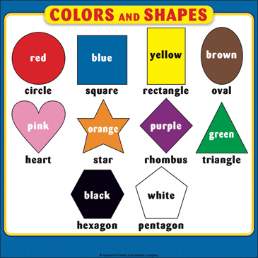 Colors and Shapes: Student Reference Page | Printable ...