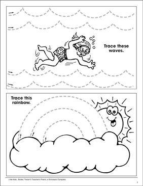tracing skills tracing waves and a rainbow printable skills sheets. Black Bedroom Furniture Sets. Home Design Ideas