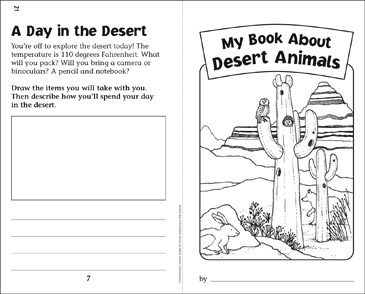 my book of desert animals nonfiction read write booklet printable mini books. Black Bedroom Furniture Sets. Home Design Ideas
