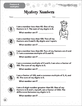 image about Quick Solve Mysteries Printable identify Magic formula Figures (Components Multiples) Printable Abilities Sheets