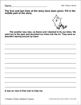 Short Story with Comprehension Questions (Reading Skills