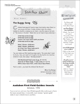 The Buggy Song (Science) - Printable Worksheet