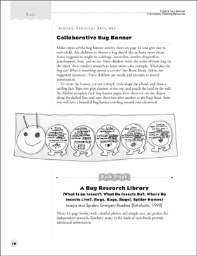 Bug Banner: Collaborative Activity - Printable Worksheet