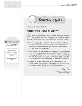 Measure the Statue of Liberty: Math - Printable Worksheet