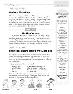 Design a Class Flag and Other Flag Activities - Printable Worksheet