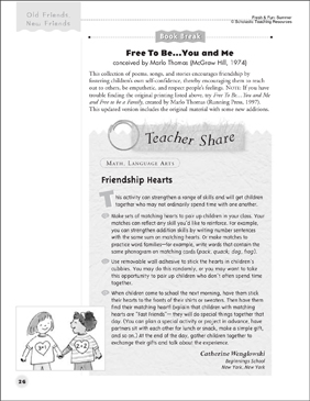 Friendship Hearts (Friendship-Building Activity) - Printable Worksheet