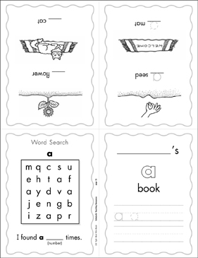 "The Sight Word ""a"" (Level 1) - Printable Worksheet"