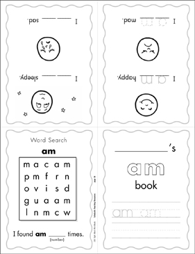 "The Sight Word ""am"" (Level 1) - Printable Worksheet"