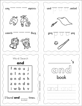 "The Sight Word ""and"" (Level 1) - Printable Worksheet"