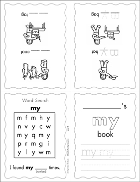 "The Sight Word ""my"" (Level 1) Mini-Book - Printable Worksheet"