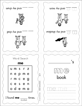 photo about Printable Sight Word Books identified as The Sight Term \u201cme\u201d (Stage 1) Printable Mini-Publications