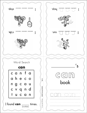 "The Sight Word ""can"" (Level 1) - Printable Worksheet"