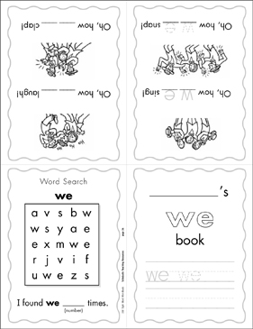 "The Sight Word ""we"" (Level 1) - Printable Worksheet"