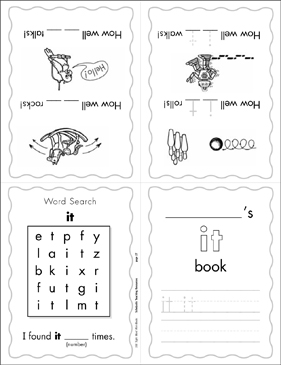 "The Sight Word ""it"" (Level 1) - Printable Worksheet"