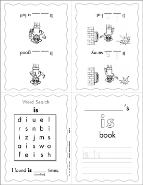 "The Sight Word ""is"" (Level 1) - Printable Worksheet"