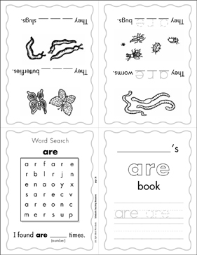 "The Sight Word ""are"" (Level 2) - Printable Worksheet"