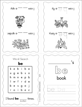 "The Sight Word ""be"" (Level 2) - Printable Worksheet"