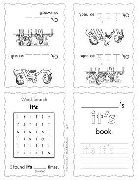"The Sight Word ""it's"" (Level 2) - Printable Worksheet"
