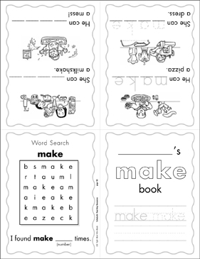 "The Sight Word ""make"" (Level 2) - Printable Worksheet"