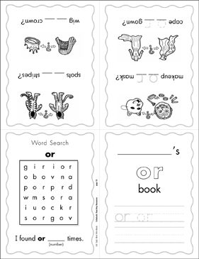 "The Sight Word ""or"" (Level 2) - Printable Worksheet"