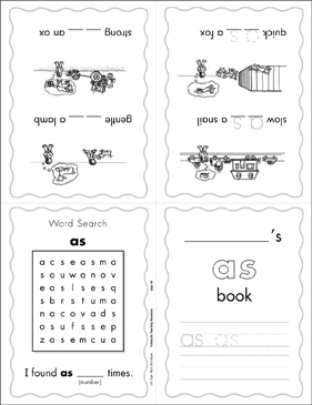 "The Sight Word ""as"" (Level 3) - Printable Worksheet"