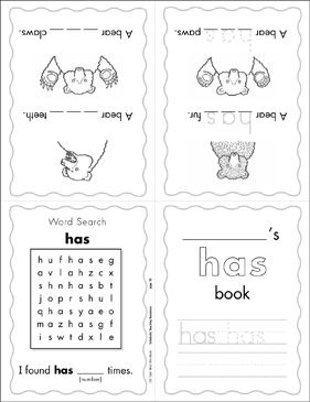 "The Sight Word ""has"" (Level 3) - Printable Worksheet"