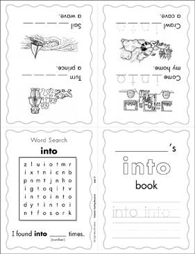 "The Sight Word ""into"" (Level 3) - Printable Worksheet"