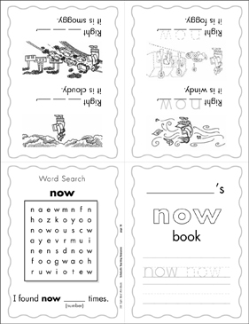 "The Sight Word ""now"" (Level 3) - Printable Worksheet"