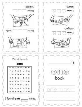 "The Sight Word ""one"" (Level 3) - Printable Worksheet"