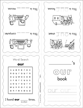 "The Sight Word ""our"" (Level 3) - Printable Worksheet"