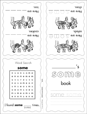 "The Sight Word ""some"" (Level 3) - Printable Worksheet"