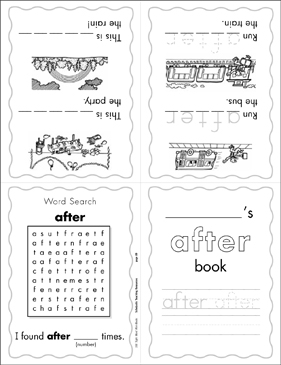 "The Sight Word ""after"" (Level 4) - Printable Worksheet"