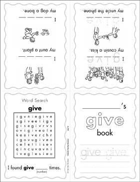 "The Sight Word ""give"" (Level 4) - Printable Worksheet"