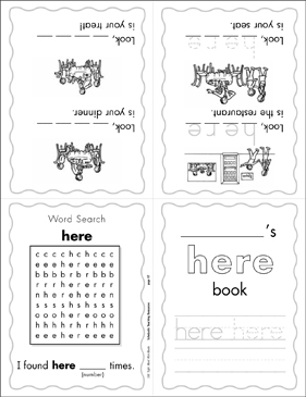 "The Sight Word ""here"" (Level 4) - Printable Worksheet"