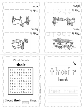 "The Sight Word ""their"" (Level 4) - Printable Worksheet"
