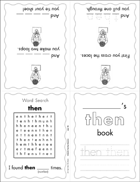 "The Sight Word ""then"" (Level 4) - Printable Worksheet"
