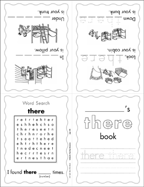 "The Sight Word ""there"" (Level 4) - Printable Worksheet"