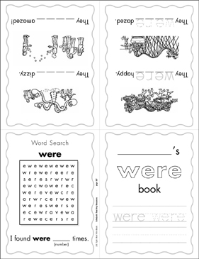 "The Sight Word ""were"" (Level 4) - Printable Worksheet"